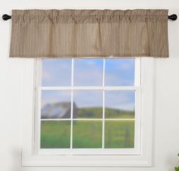 SAWYER MILL CHARCOAL TICKING STRIPE Valance Window Curtain F