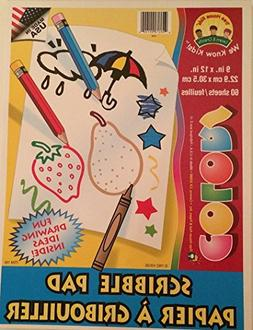 """Tree House Kids Scribble Pad, 60 sheets, 9"""" x 12"""" paper"""