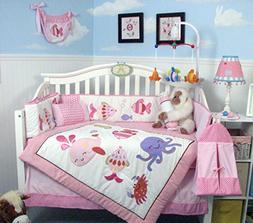 SoHo The Sea Sweetie Baby Crib Nursery Bedding Set 14 pcs in