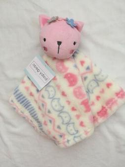 Baby Gear Security Blanket & Plush Cat, Girls Shower Soft Bl