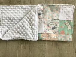 Security Blanket Baby Blanket Lovie Blanket Bunny Patchwork
