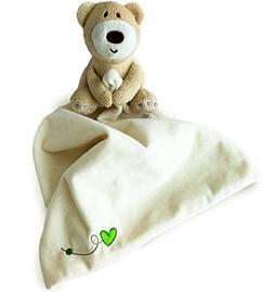 Teddy Bear Snuggle Blankie. Plush Infant Security Blanket fo