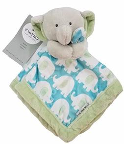 Carter's Security Blanket, Blue/Green Elephant