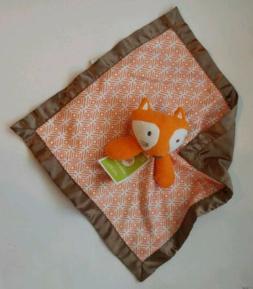 Circo Baby Security Blanket Woodland FOX Orange Brown Blanki