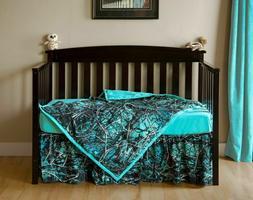 Muddy Girl Serenity Camo Crib Bedding, Sheet Skirt Blanket B