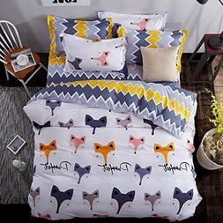 4pcs/set Animal Design Children Bedding Set One Duvet Cover