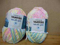 Set of 2 Bernat Baby Blanket 10.5 oz. Yarn Pitter Patter