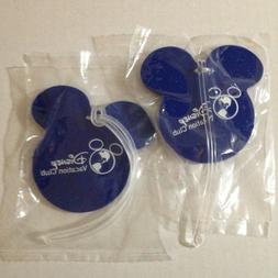 DISNEY Vacation Club  Luggage Tags Zipper Pull Mickey Mouse