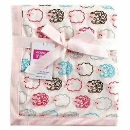 Hudson Baby Girl Blanket with Plush Backing, Pink
