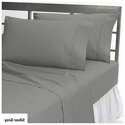 4 PC Sheet Set 8-10 inches Extra Deep Pocket Solid Pattern 1