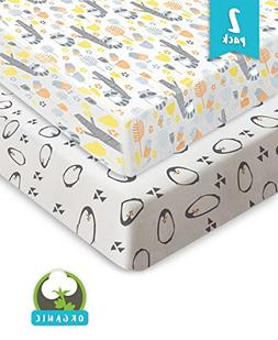 Pickle & Pumpkin Premium Crib Sheets | 100% Organic Jersey C