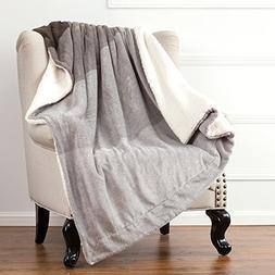 Sherpa Throw Blankets Gradient Brown Twin Size Fleece Bed Bl