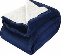 Utopia Bedding Sherpa Flannel Fleece Reversible Bed Blanket