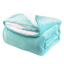 "HoroM Decorative Throw Blanket Light Blue Throw 50""x60"" Micr"