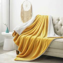 Sherpa Throw Fleece Blanket Luxury Flannel Faux Soft Bed Cou