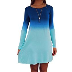 Short Mini Dress,Beautyvan Fashion Beautiful Womens Long Sle