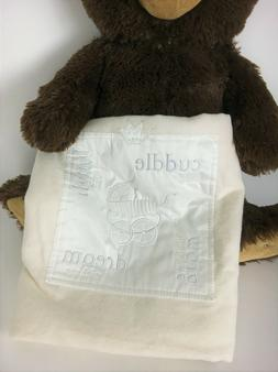 Barefoot Dreams Signature Receiving Baby Blanket in White Pe