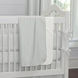 Carousel Designs Silver Gray Linen Crib Blanket