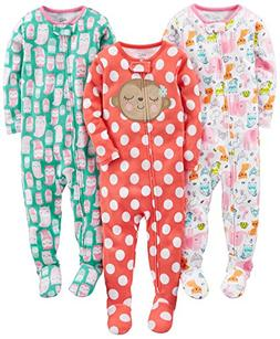 Simple Joys by Carter's Toddler Girls' 3-Pack Snug Fit Foote