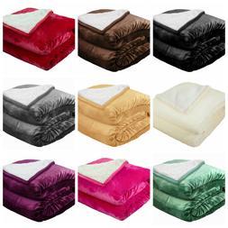Sherpa Throw Blanket Plush Super Soft Cozy Winter Borrego Ki