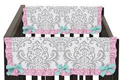 Sweet Jojo Designs Skylar Turquoise Blue, Pink and Gray Dama