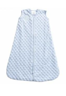 HALO Sleep Sack Plush Dot Velboa Wearable Blanket Blue Small