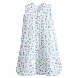 HALO SleepSack 100% Cotton Wearable Blanket, Blue Travel Tim