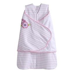 Halo SleepSack Cotton Swaddle, Pink Flutter Petals, Small