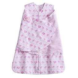 Halo SleepSack Cotton Swaddle, Pink Print, Small