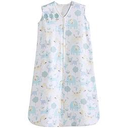 Halo Sleepsack 100% Cotton Wearable Blanket, Blue Animal, La