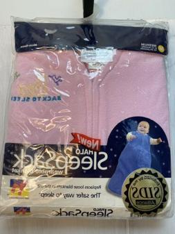 HALO SleepSack Micro-Fleece Wearable Blanket, Soft Pink, Med