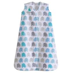 Halo SleepSack, Micro-fleece, Elephant Texture, Gray, Medium