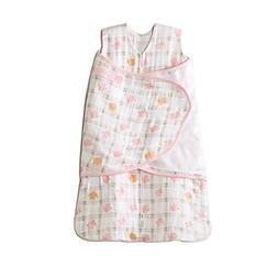 HALO SleepSack Girls Pink Elephant Muslin Swaddle Blanket -