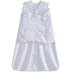 HALO SleepSack Swaddle 100% Cotton - Blue/Grey Dot