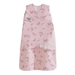 Halo Sleepsack Swaddle,100% Cotton, Butterfly Scribble, Pink