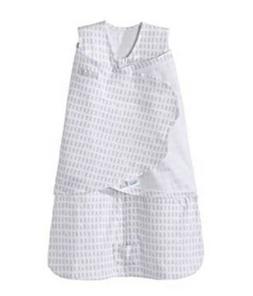HALO Sleepsack Swaddle Small, 100% Cotton, Gray Boxes, Plati