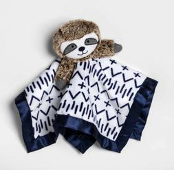 Cloud Island Sloth Baby Security Blanket ~ White Navy Blue B