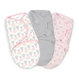 SwaddleMe Girls 3 Pack Slow and Steady Swaddle Blanket - Sma