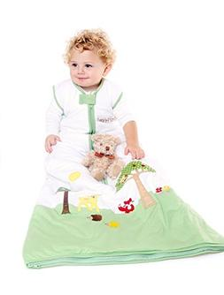 SlumberSafe Toddler Summer Sleeping Bag 0.5 Tog, Forest Frie