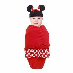 Disney Small Minnie Mouse Wearable  Baby Blanket in Black &