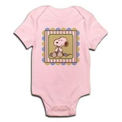 CafePress Snoopy Blanket Blue Body Suit Baby Bodysuit