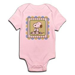 CafePress Snoopy Blanket - Blue Body Suit Cute Infant Bodysu