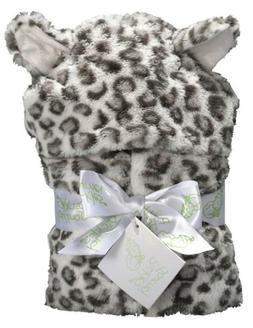 Snow Leopard Faux Fur Hooded Wrap Blanket