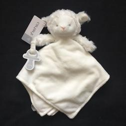 New Carter's Snuggle Buddy Yellow Lamb Security Blanket Soft