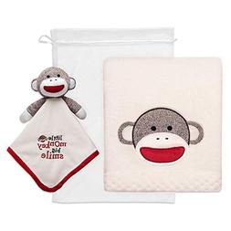 Baby Starters 2-Piece Sock Monkey Snuggle Buddy and Blanket