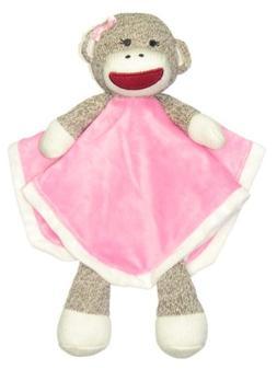 Sock Monkey Snuggle Buddy Rattle by Baby Starters - Hot Pink