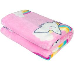 Ghome Soft Baby Blanket and Unicorn Fuzzy Blanket,Made of 30