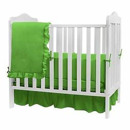 Soft Baby Crib Bedding Set Four Piece Solid Color for Standa