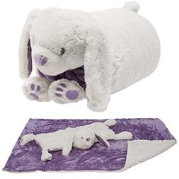 Snuggle Me Sherpa Soft Baby Blanket & Plush Pillow Stuffed A