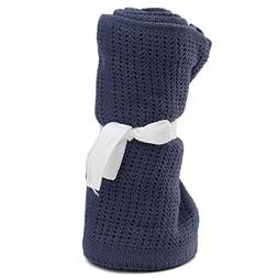 KINGSO Soft Cotton Crib Blanket for Kids Baby
